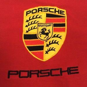 Vintage Porsche Stuttgart Red Polo Shirt